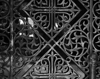 Fine art print, Wall art print, Greece, Door, Metal frame, Patterns, Reflections, Colour or Black and white, 8x10 - Take me to church