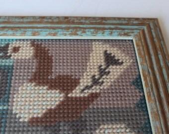 Bird needlepoint, tapisserie, tapiz