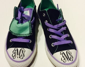 Monogramed shoe stickers