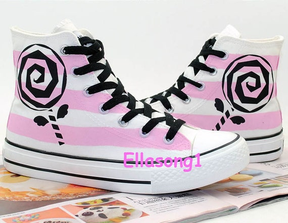 painted flower canvas shoes casual painted custom shoes