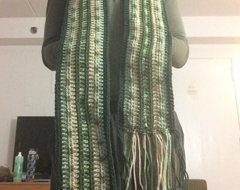 Green Frilly Scarf