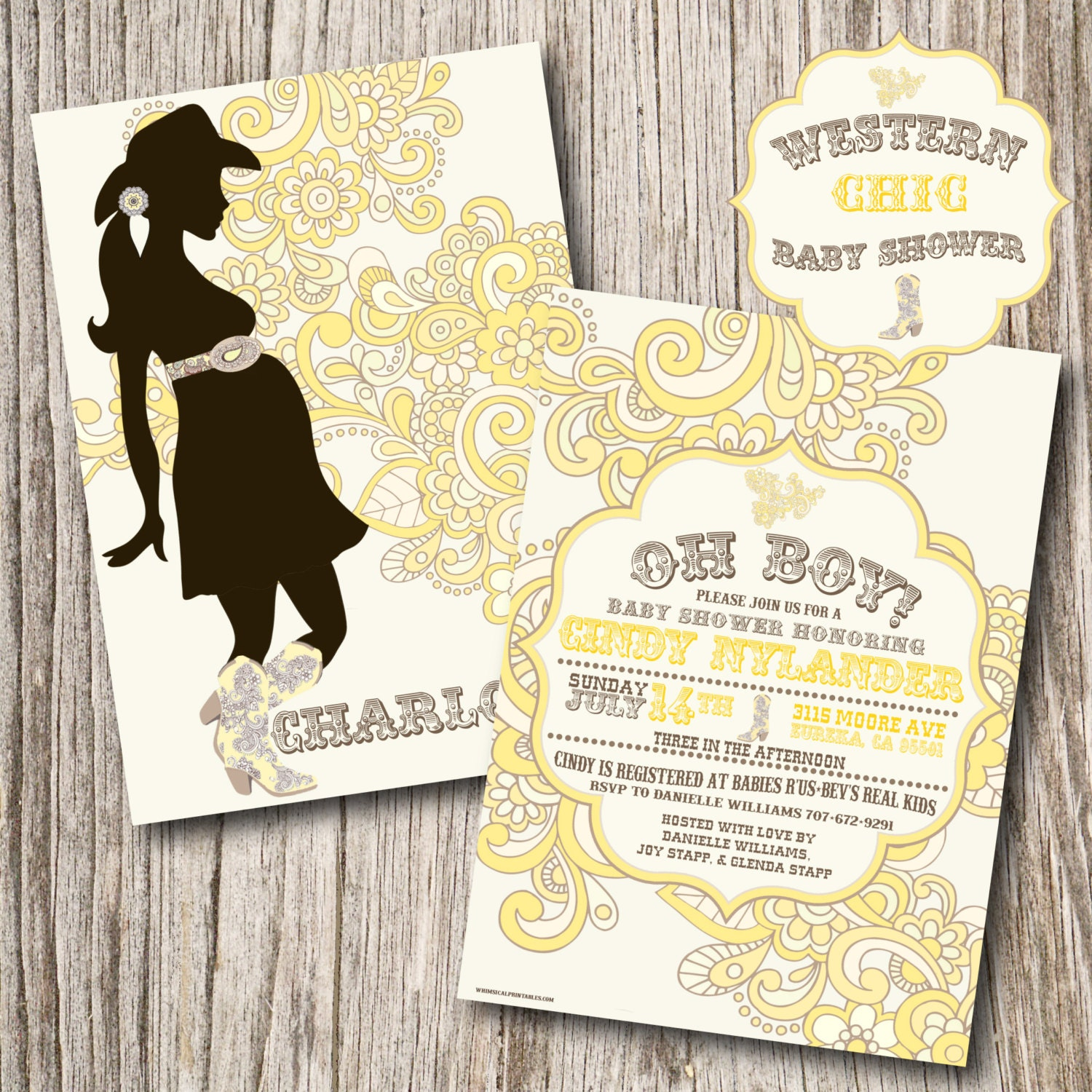 western baby shower invitations western by jeannineaubreydesign