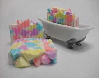Candy Crush Soap-Fruity Kids Party Favor-Childrens Gift Soap-Moisturizing Glycerin Soap-Shea Butter Soap-Handmade Decorative Soap-Novelty