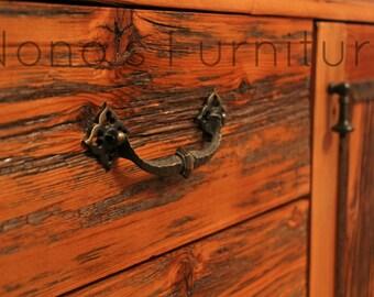 Barnwood handmade dresser, Vintage hardware