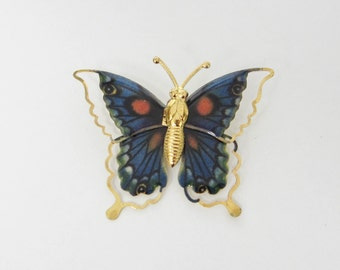 VINTAGE butterfly brooch, vintage brooch, butterfly brooch