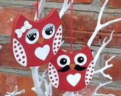 Wooden Hanging Owls