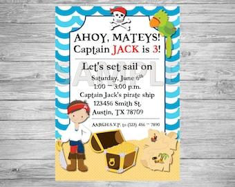 Pirate Birthday Party Invitation, Pirate Birthday Party, Printable Pirate Invitation, Pirate Party