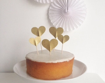 Heart Wedding/Party Cupcake Toppers