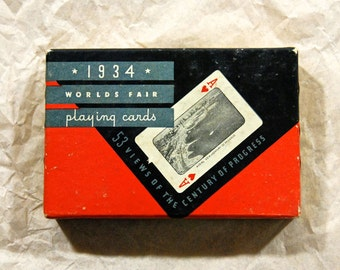 1934 Chicago World's Fair Playing Cards