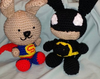 Super Hero Bunnies or Bears - SuperBunny and BatBunny to the rescue.