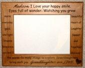 Granddaughter Poem Laser Engraved Personalized Photo Frame