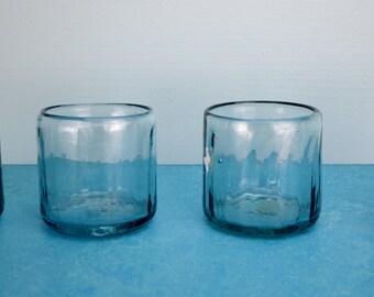 4 Blown Drinking Glasses