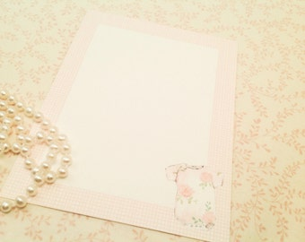 Baby Thank You Notes-Baby Girl Note Cards-set of 10