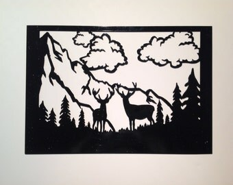 deer, wall decor, nature lover, gift for him, home decor, nature inspired, elk, metal art, housewarming gift, outdoorsy, wall hanging, gift