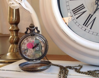 Chic pocket watch pendant
