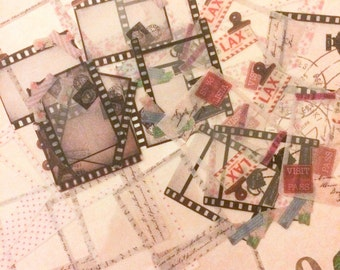 Clear Film Flake Stickers from Japan