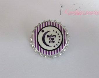 Relay For Life Bottle Cap Pins