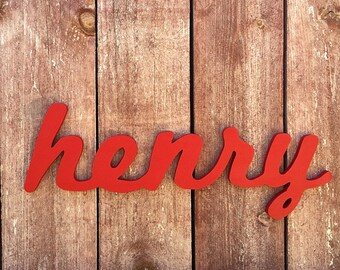 Henry - Custom Wooden Name Sign - Nursery - Baby Name - Wedding - Shower Gift - Baby Name Sign, Kid's room decor, Nursery Nesting