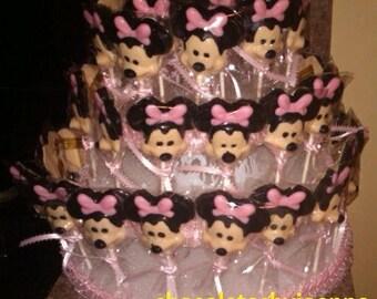 Minnie Mouse Chocolate Lollipop Centerpiece