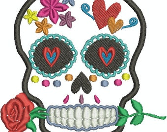 Digital Embroidery Design - Sugar Skull