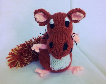Cyril the Squirrel knitted character toy