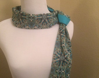 Turquoise Printed Infinity Scarf