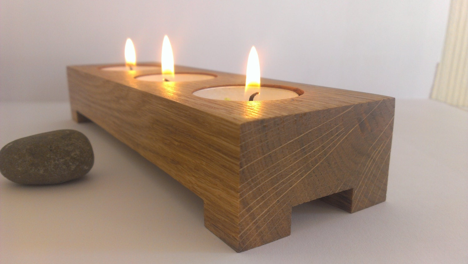 3 Tea Light Candle Holder Modern Look Candle Holder Wooden