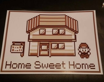 "Pokemon poster ""Home sweet home"" A4 SALE"