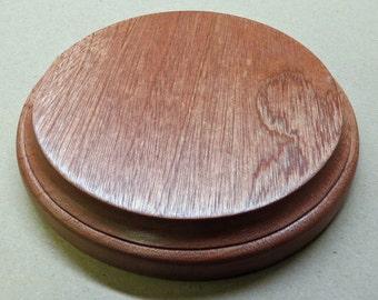 Round base in mahogany - Round mahogany base