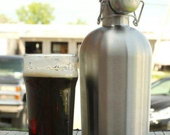 Stainless Steel Beer Growler - 64 oz