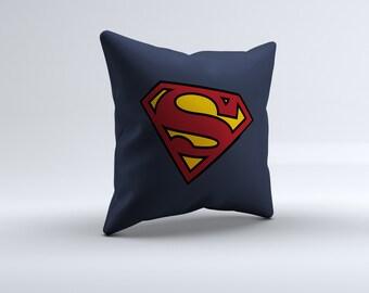 superman throw pillow, superhero pillow, super hero throw pillow, superman pillow, decorative pillow, 16x16, 18x18, 20x20,14x14