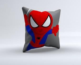 superhero throw pillow, superhero pillow, super hero throw pillow, spiderman pillow, kids pillow, 16x16, 18x18, 20x20,14x14