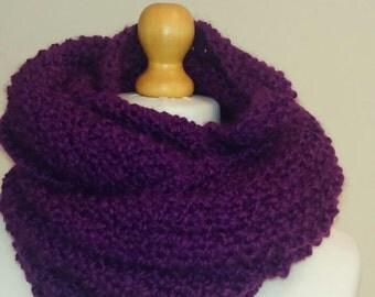 Infinity scarf, Scarf, Chunky purple scarf, Hand knit scarf, Soft and cozy scarf, Purple snood, Snood, Knit snood, Knit scarf *ready to ship