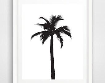 Palm Tree Print, Black Palm Tree, Palm Tree Art, Palm, Printable Wall Art,  Downloadable Art, Modern Wall Art