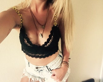 """The """"SUNKISS"""" Knit Lace Summer Bra Top"""
