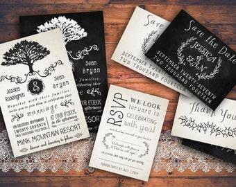 Rustic Wedding Invitation Pack
