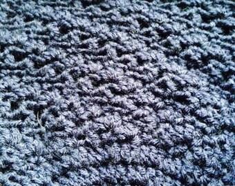 Blue crocheted hat