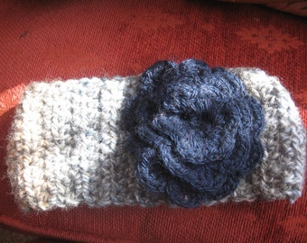 Childs headband with blue flower