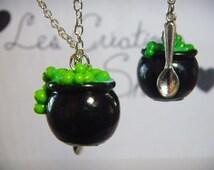 Necklace Witch Cauldron