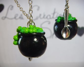 Necklace Witch Cauldron