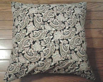 Black and Brown Paisley Pillowcase