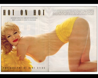 """Mature Celebrity Nude : Amber Smith 2 Page Spread Photo Wall Art Decor 16"""" x 11"""""""