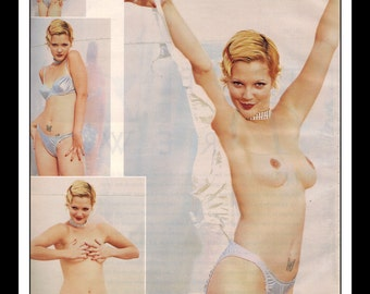 "Mature Celebrity Nude : Drew Barrymore Single Page Photo Wall Art Decor 8.5"" x 11"""