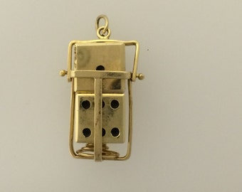 14ct Gold Pair of Dice Charm