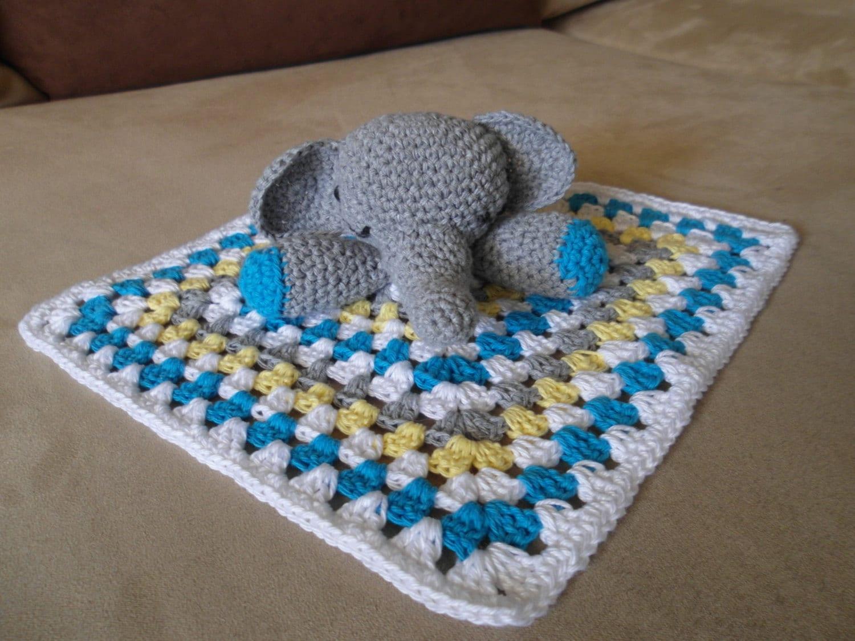 Amigurumi Elephant Blanket : Crochet snuggle blanket elephant granny square by ...