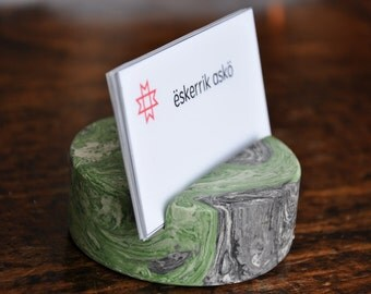 Business card holder. Business card stand. Business card display.