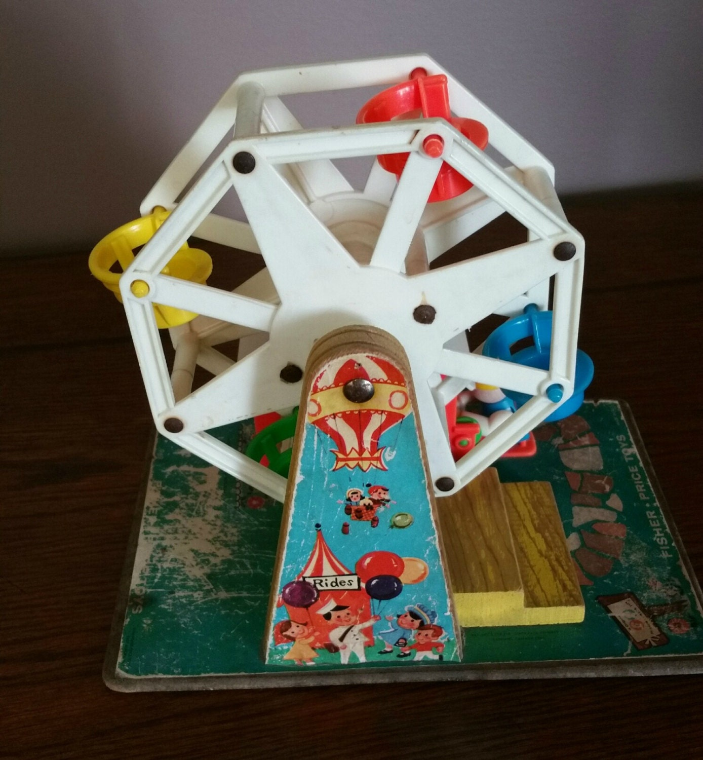 Fisher Price Musical Ferris Wheel Toy 1960s Toy Collectible