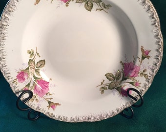 Vintage ESCO China Bowl With Pink Flowers