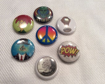Pin back button badges