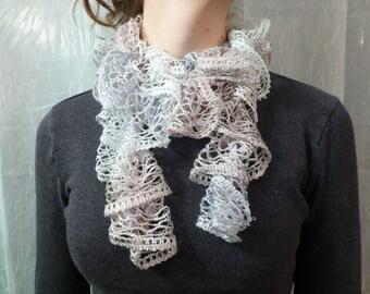 Fancy Crocheted Lacy Scarf